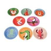 Sada 8 papierových tanierov Rex London Colourful Creatures