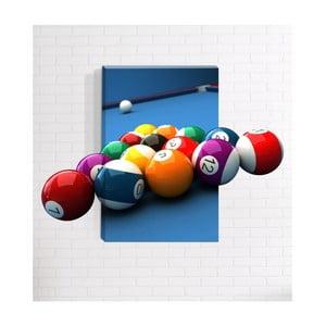 Nástenný 3D obraz Mosticx Biliard, 40 x 60 cm
