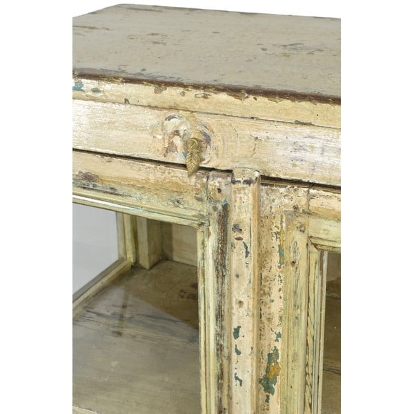 Presklená skriňa Goa 70x108 cm, biela patina