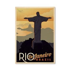 Plagát Americanflat Rio, 42 x 30 cm