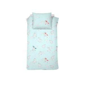 Svetlomodré bavlnené posteľné obliečky Damai Licorne Blue, 200×140 cm