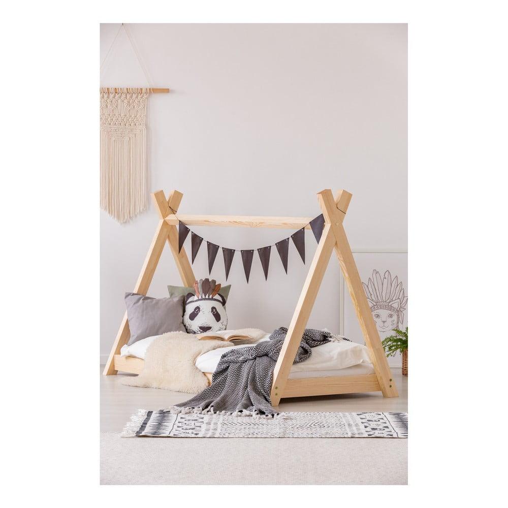 Domčeková posteľ z borovicového dreva Adeko Mila TP, 90 x 160 cm