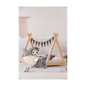 Domčeková posteľ z borovicového dreva Adeko Mila TP, 70×140 cm