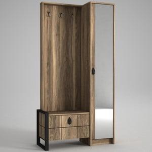 Skriňa so zrkadlom v dekore orechového dreva Ratto Lost
