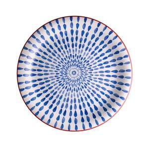 Modrý tanier z dolomitu Brandani Ginger, ⌀ 27 cm