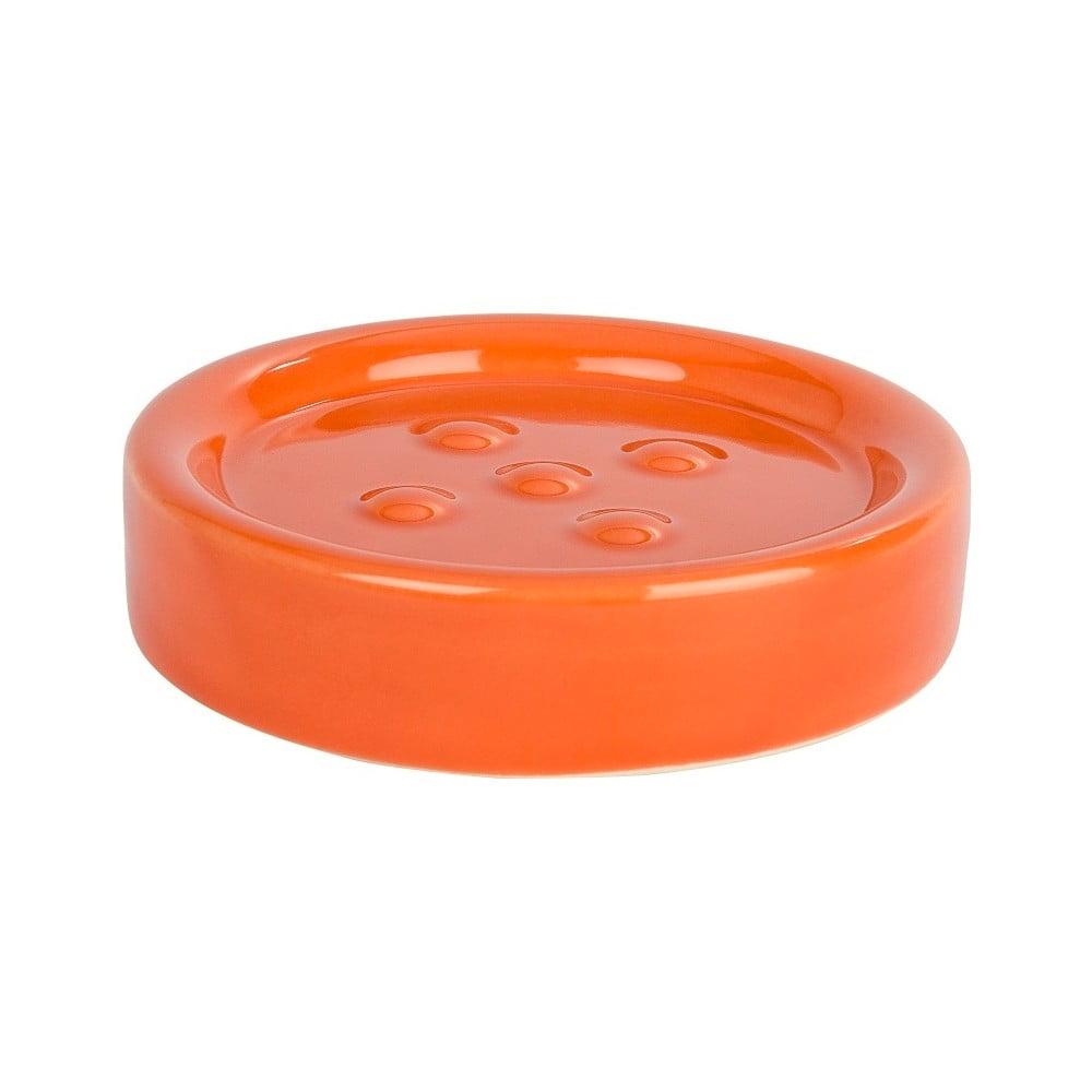 Oranžová podložka pod mydlo Wenko Polaris Orange