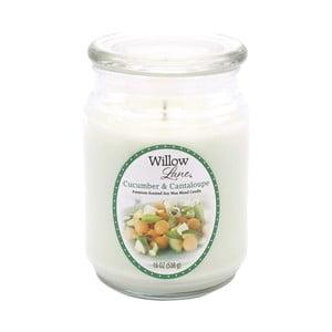 Vonná sviečka v skle zo sojového vosku s vôňou uhorky a melóna Candle-Lite, doba horenia až 115 hodín