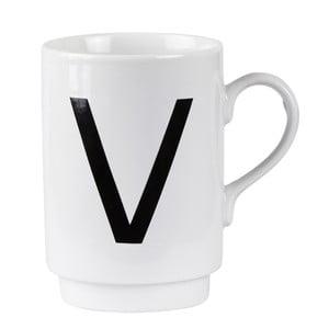 Porcelánový písmenkový hrnček V