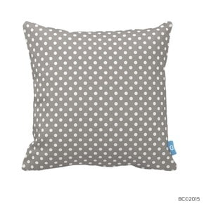 Sivý vankúš s bielymi bodkami Homemania Dots, 43 x 43 cm
