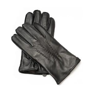 Pánske čierne kožené rukavice Pride & Dignity Gates, veľ. XL