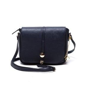 Kožená kabelka Ariela, tmavomodrá