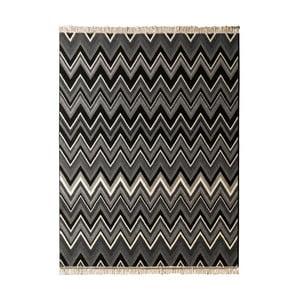Koberec Hanse Home Fringe Black, 80 x 150 cm