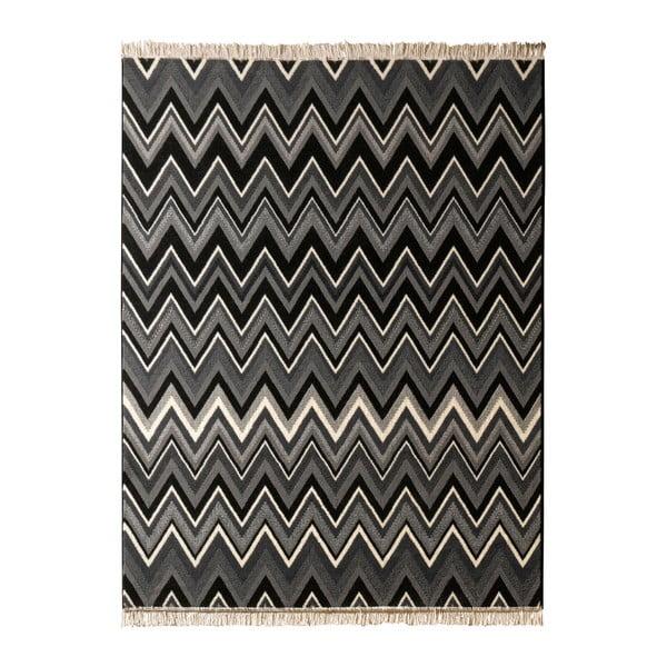 Koberec Hanse Home Fringe Black, 200 x 290 cm