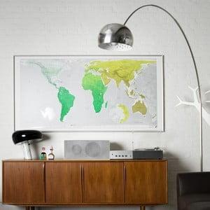 Mapa sveta Huge Future Map, 196x100 cm, zelená