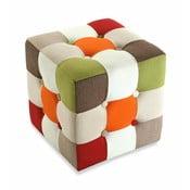 Puf na sedenie Versa Red Cube