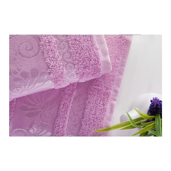 Set uteráka a osušky Carmen Pink, 50x90 a 70x140 cm