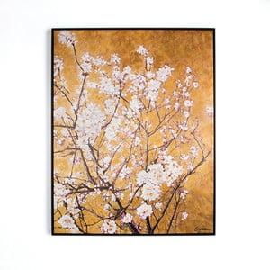 Ručne maľovaný obraz Graham&Brown Blossom, 90x70cm