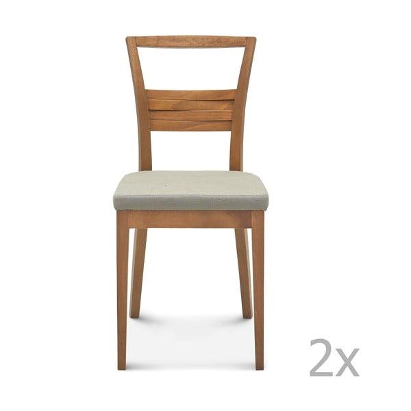 Sada 2 drevených stoličiek Fameg Greta