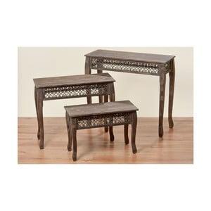 Sada 3 stolíkov Amira