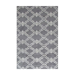 Ručne tuftovaný sivý koberec Bakero Riviera, 122 x 183 cm