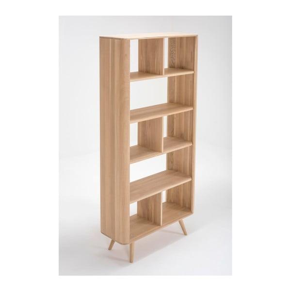 Knižnica z dubového dreva Gazzda Ena, 90×35×200 cm