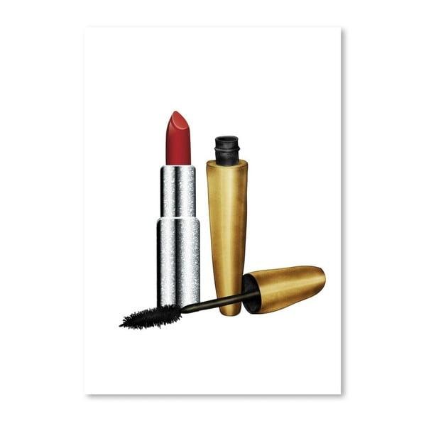 Plagát Americanflat Lipstick and Mascara, 30 x 42 cm