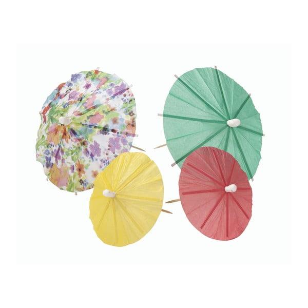 Sada 24 dáždničkov Talking Tables Floral Fiesta