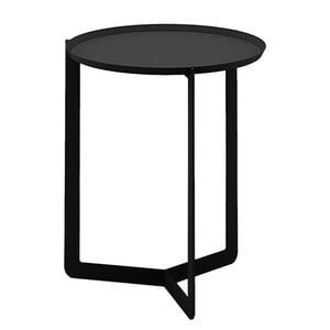 Čierny príručný stolík MEME Design Round, Ø40cm