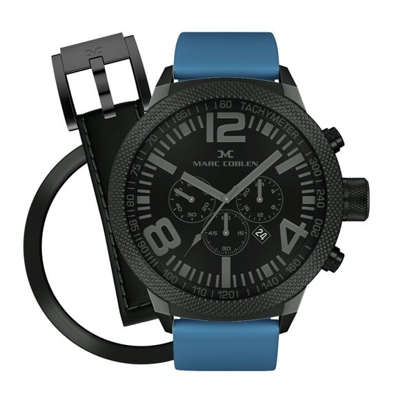 Pánske hodinky Marc Coblen s remienkom a krúžkom na ciferník naviac P52