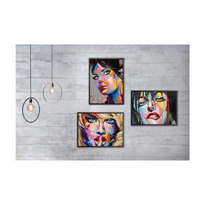 Sada 3 nástenných obrazov Tablo Center Pop Art