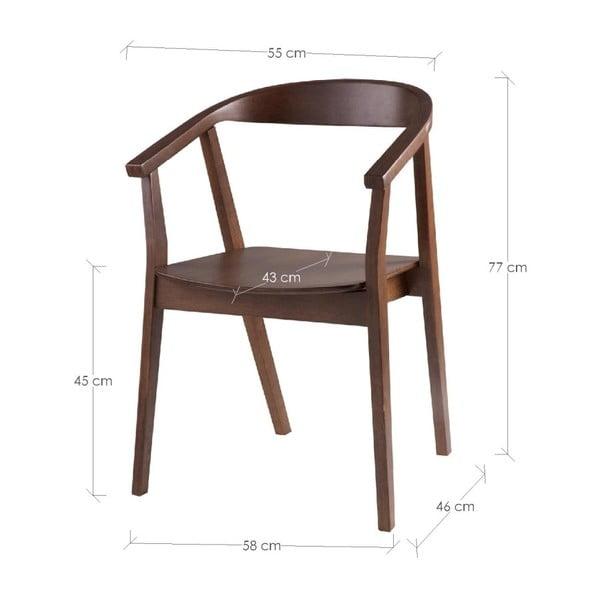 Sada 2 jedálenských stoličiek vdekore orechového dreva sømcasa Donna