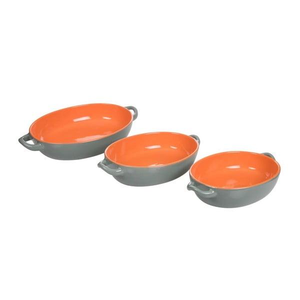 Sada 3 zapekacích misiek Roma Orange