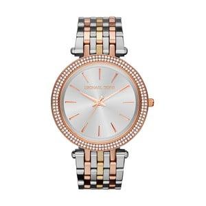 Dámske hodinky v striebornej farbe s detailmi vo farbe ružového zlata Michael Kors Darci