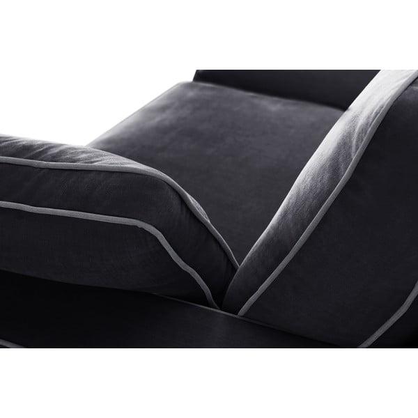 Dvojmiestna pohovka Jalouse Maison Serena, čierna