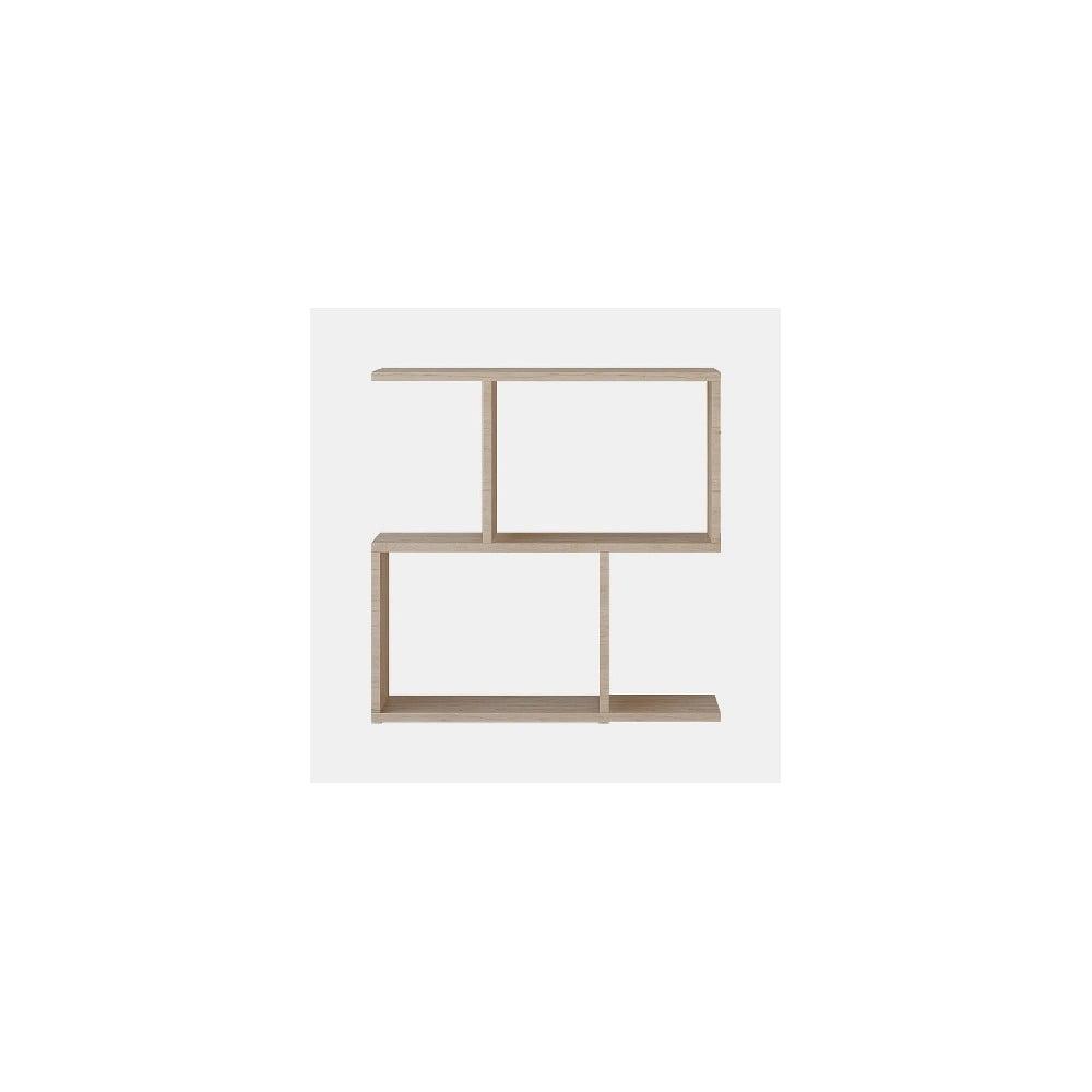 Hnedý odkladací stolík Mark, výška 60 cm