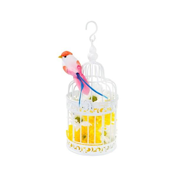 Kovový lampášik White Birdcage