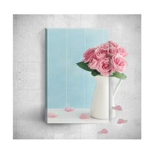 Nástenný 3D obraz Mosticx Pink Roses, 40×60 cm