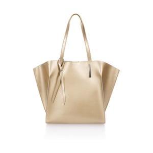 Kožená kabelka v zlatej farbe Giorgio Costa Mantina