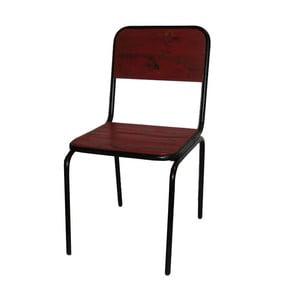 Jedálenská stolička Antic Line Industrielle Rouge