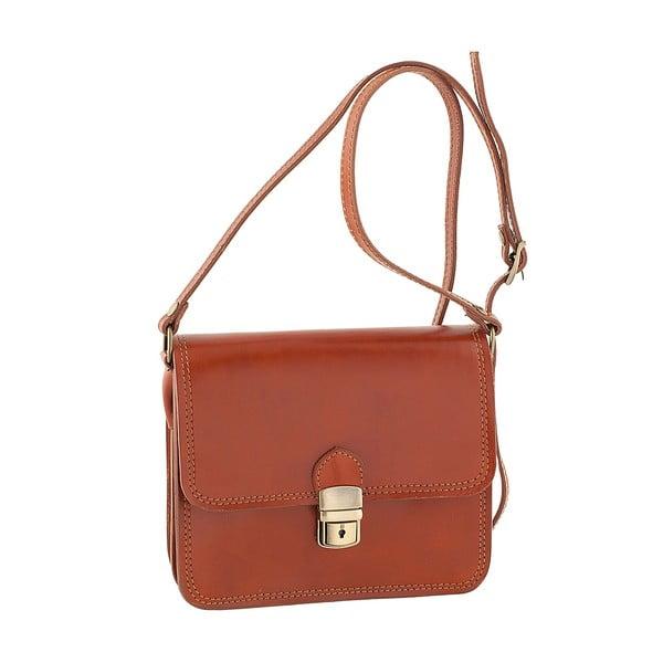 Medovohnedá kožená kabelka Ore Diece Agrigento