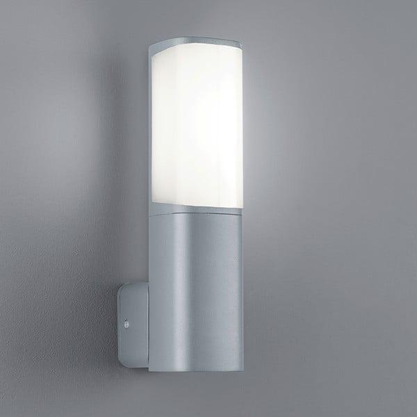 Svetlosivé vonkajšie nástenné svetlo Trio Ticino, výška 27 cm