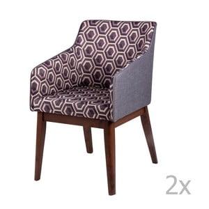 Sada 2 jedálenských stoličiek sømcasa Clio