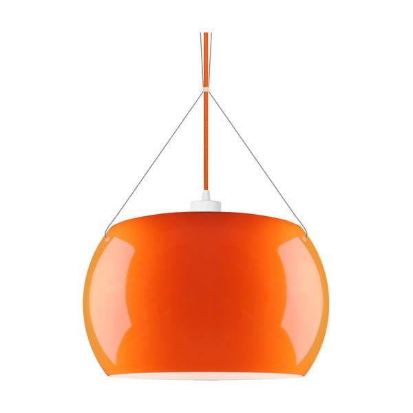 Oranžové lesklé závesné svietidlo Sotto Luce MOMO