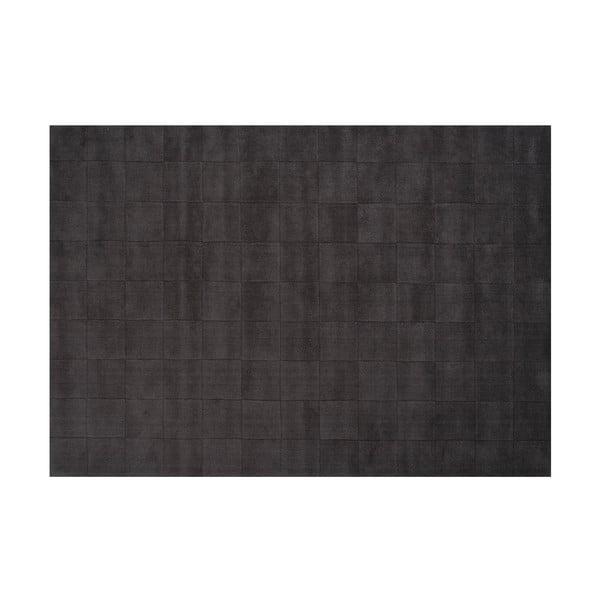 Vlnený koberec Luzern, 140x200 cm, tmavosivý