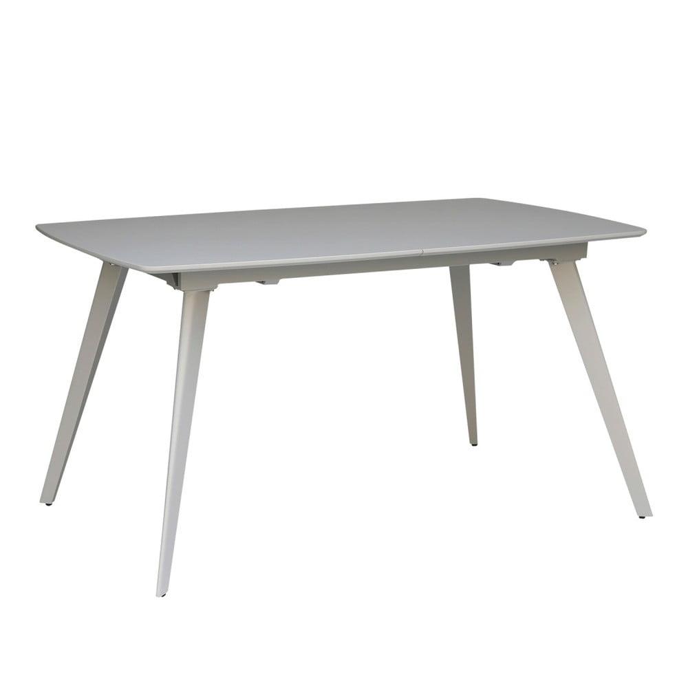 Sivý rozkladací jedálenský stôl sømcasa Tessa, 140 × 90 cm