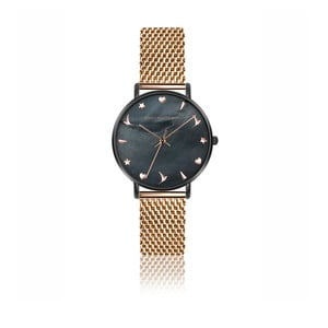 Dámske hodinky s antikoro remienkom v striebornej farbe v ružovozlatej farbe Emily Westwood Kim