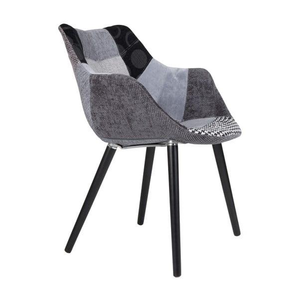 Sivá stolička Zuiver Twelve Patchwork