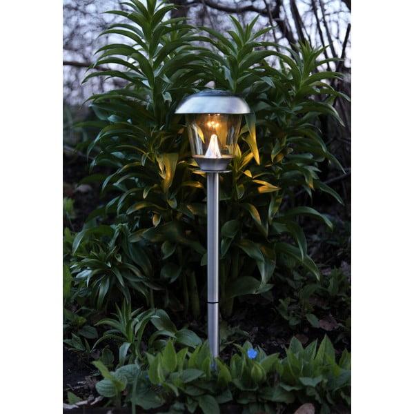 Záhradné svetlo Solar Energy Path Light Slim Steel