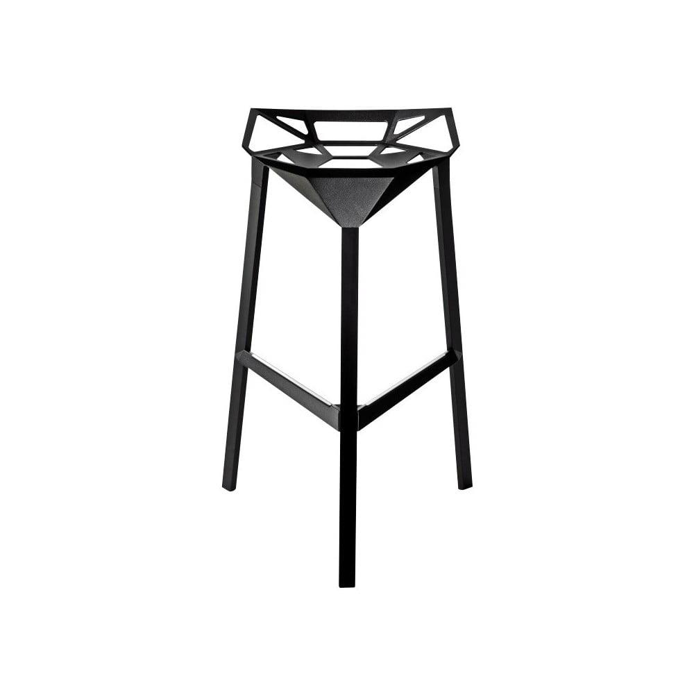 Čierna barová stolička Magis Officina, výška 74 cm