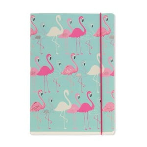 Zápisník A5 Go Stationery Flamingo Aqua
